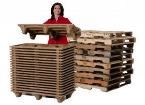 light weight nestable presswood pallets