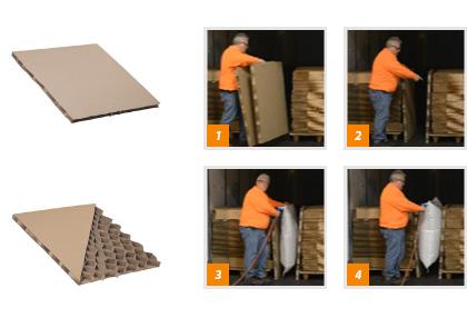 Corrugated Bulkhead Void Fillers Diamond Pak Litco