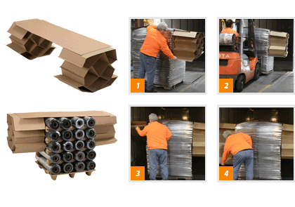 Pallet-sized Corrugated Void Fillers - DUAL DROP | Litco
